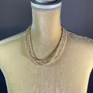 Necklace- Freshwater Pearls & Glass Beads